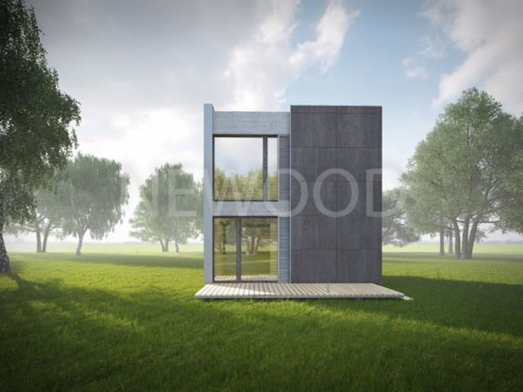 NEWOOD - Современные деревянные дома Eclectic style houses Wood Multicolored