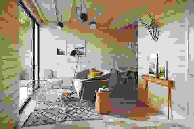 NEWOOD - Современные деревянные дома Living room Wood Multicolored