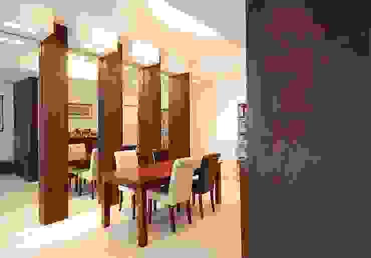 UN MATERIALE NON CONSUETO: IL CORTEN Sala da pranzo moderna di silvestri architettura Moderno