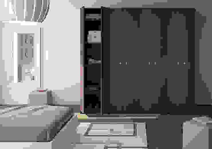 Armoire-dressing avec portes battantes par Centimetre.com Moderne