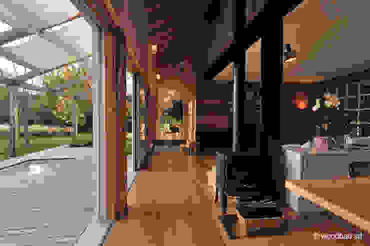 Woodbau Srl 客廳 木頭