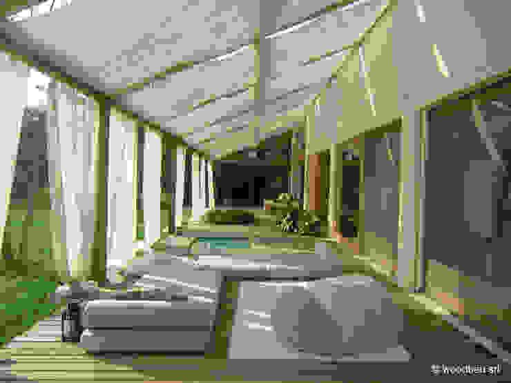 Classic style balcony, veranda & terrace by Woodbau Srl Classic Wood Wood effect
