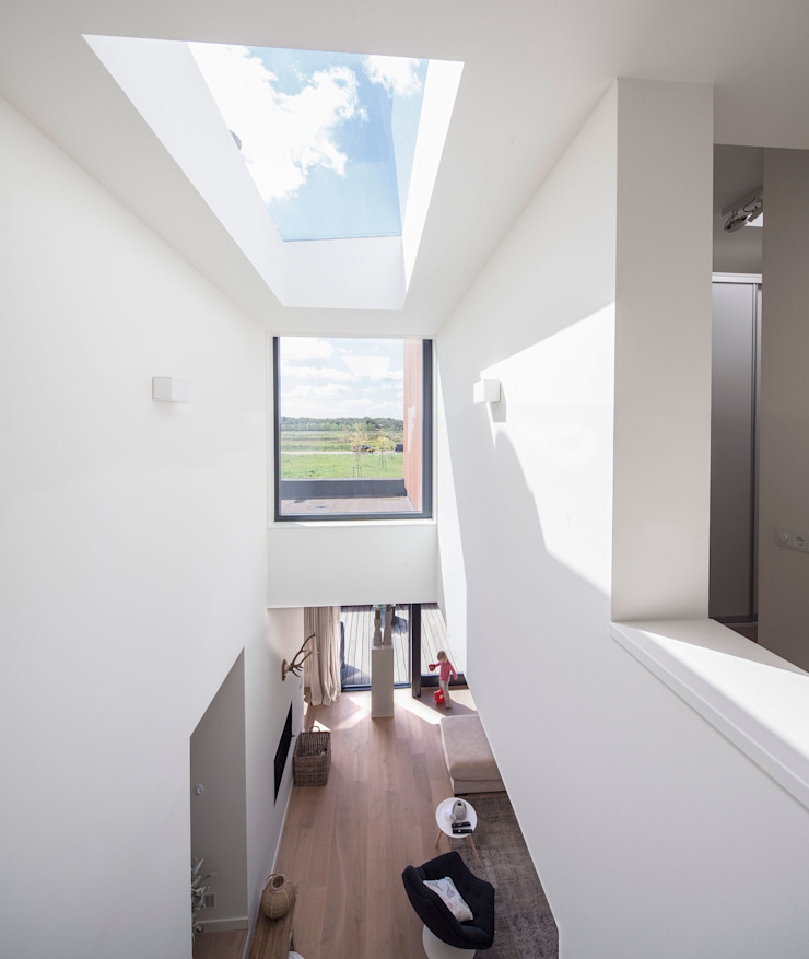 Woonhuis Ter Borch, Groningen Moderne ramen & deuren van De Zwarte Hond Modern