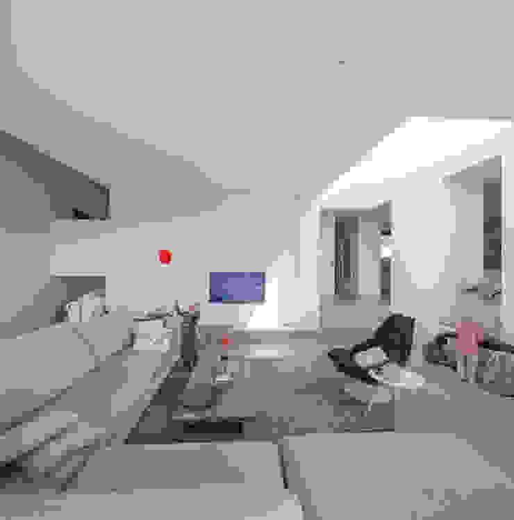 Woonhuis Ter Borch, Groningen Moderne woonkamers van De Zwarte Hond Modern
