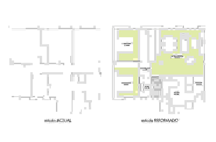 Planos calle Salamanca de auno50 interiorismo Moderno