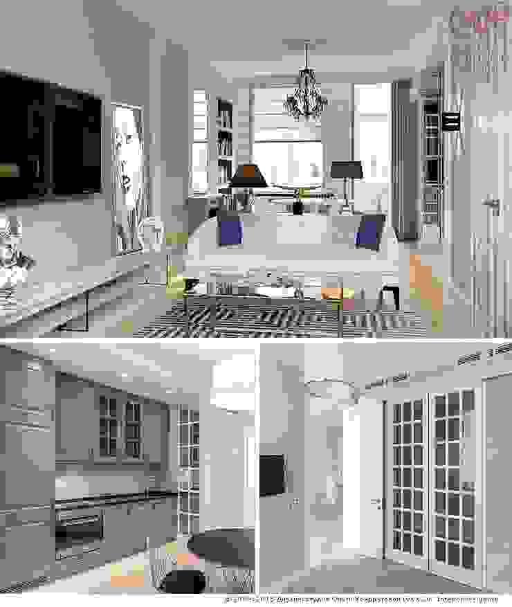 Меблировка кухонной зоны кухни-гостиной Кухня в классическом стиле от Дизайн студия Ольги Кондратовой Классический