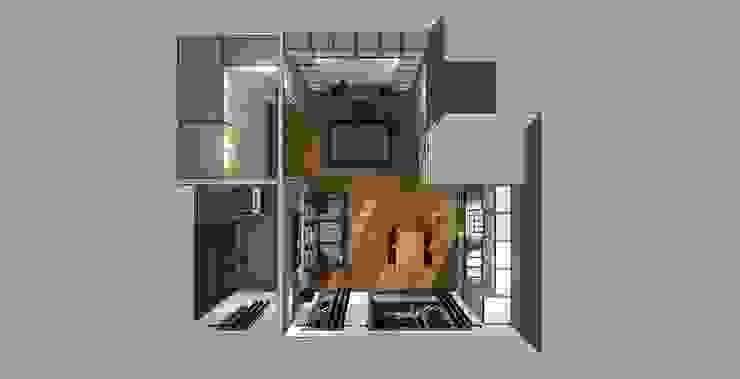 piantina 3d con letto chiuso di Bludiprussia design Moderno