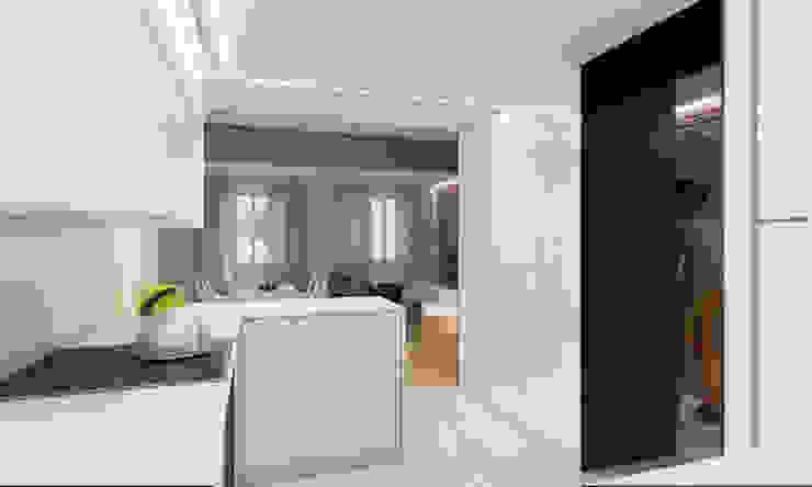Infografía 3d del proyecto (cocina) de auno50 interiorismo Moderno