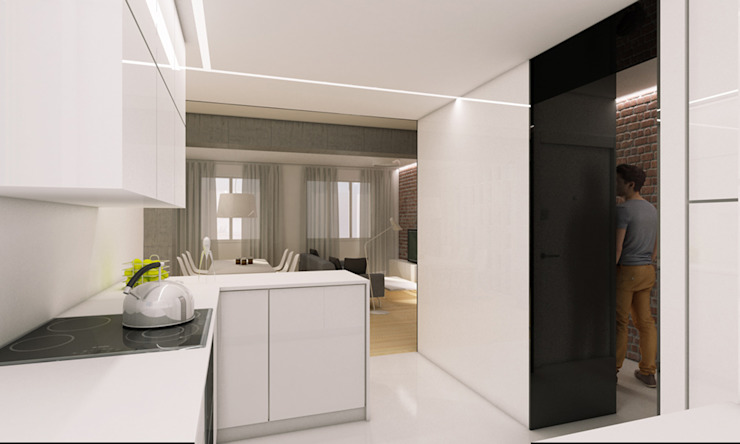 modern  by auno50 interiorismo, Modern