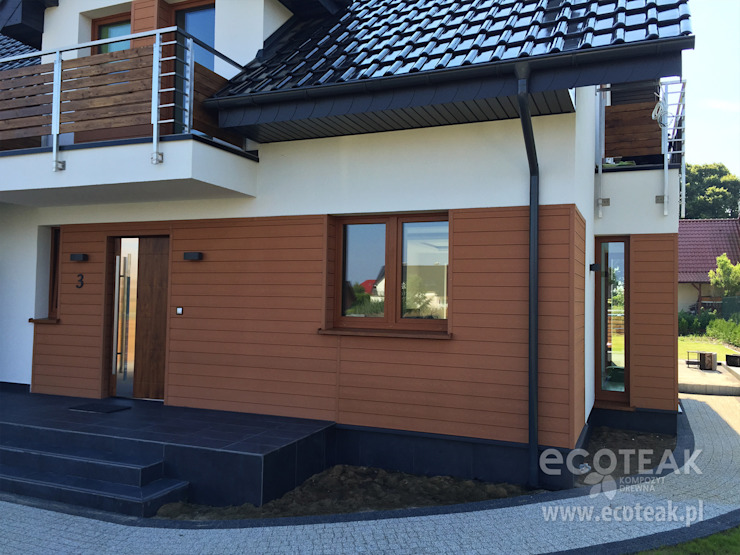 Elewacja - drewno naturalne od EcoTeak Kompozyt Drewa