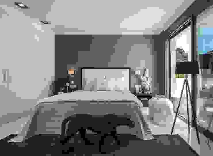 Dormitorio principal Dormitorios de estilo mediterráneo de Laura Yerpes Estudio de Interiorismo Mediterráneo
