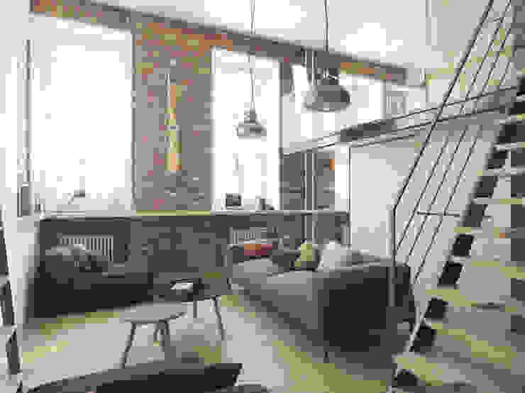 Salas de estilo industrial de The Goort Industrial