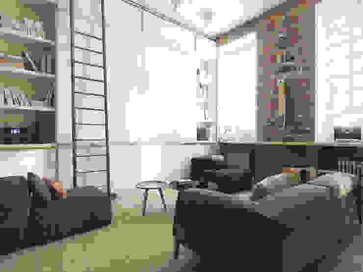 Гостиная / общий вид Гостиная в стиле лофт от The Goort Лофт