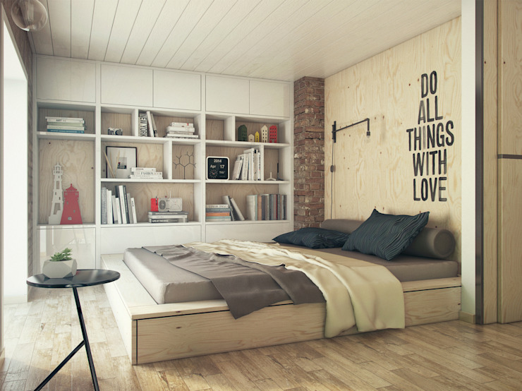 Industrial style bedroom by The Goort Industrial