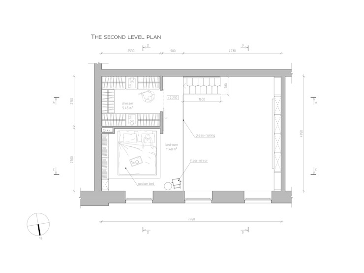 План дополнительного уровня от The Goort Лофт