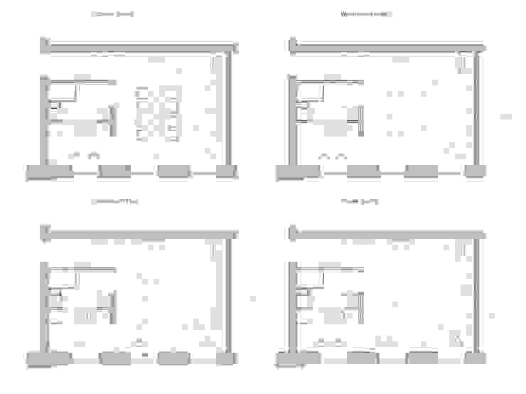 Программа интерьера / четыре варианта от The Goort Лофт