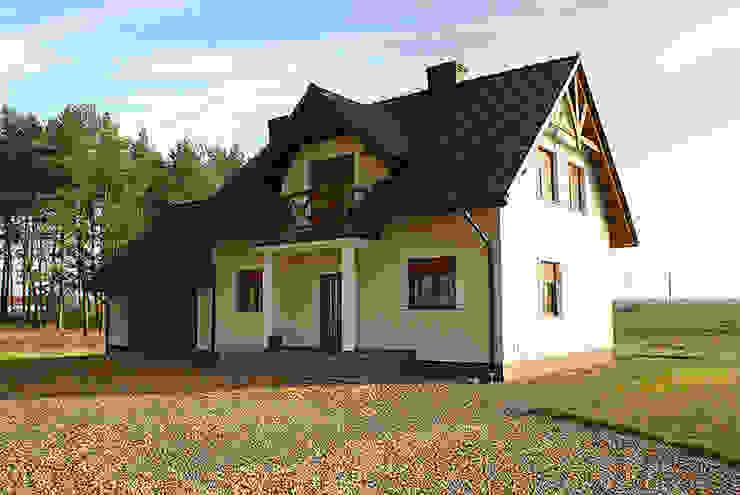 Realizacja projektu Azalia 3: styl , w kategorii Domy zaprojektowany przez Biuro Projektów MTM Styl - domywstylu.pl,