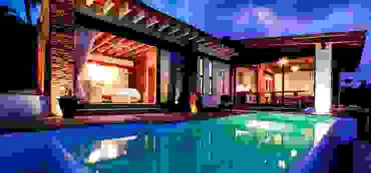 Villa Guadalupe Albercas modernas de Caja de Diseño Moderno