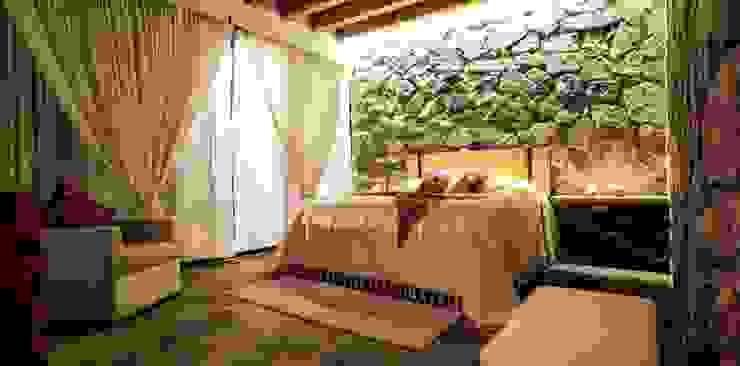 Villa Guadalupe Dormitorios modernos de Caja de Diseño Moderno