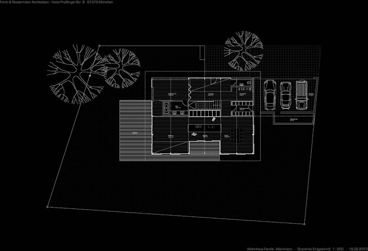 Grundriss Erdgeschoss von Fürst & Niedermaier, Architekten
