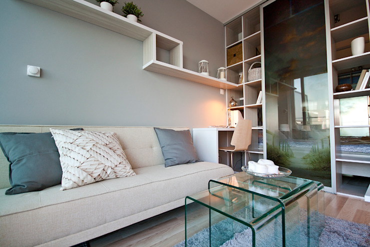 Wohnzimmer von IDAFO projektowanie wnętrz i wykończenie, Minimalistisch