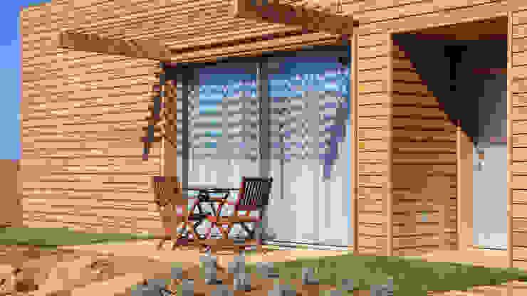 Terraço Exterior das casas Tralhão Design Center Hotéis campestres