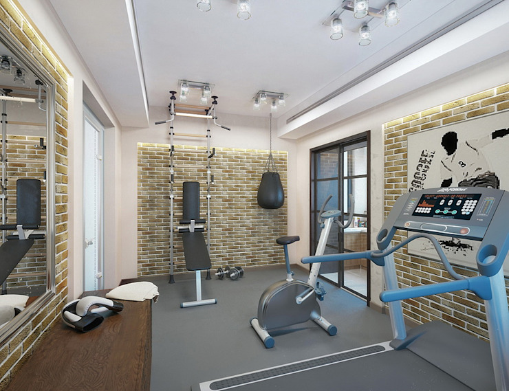 Classic style gym by Design studio of Stanislav Orekhov. ARCHITECTURE / INTERIOR DESIGN / VISUALIZATION. Classic