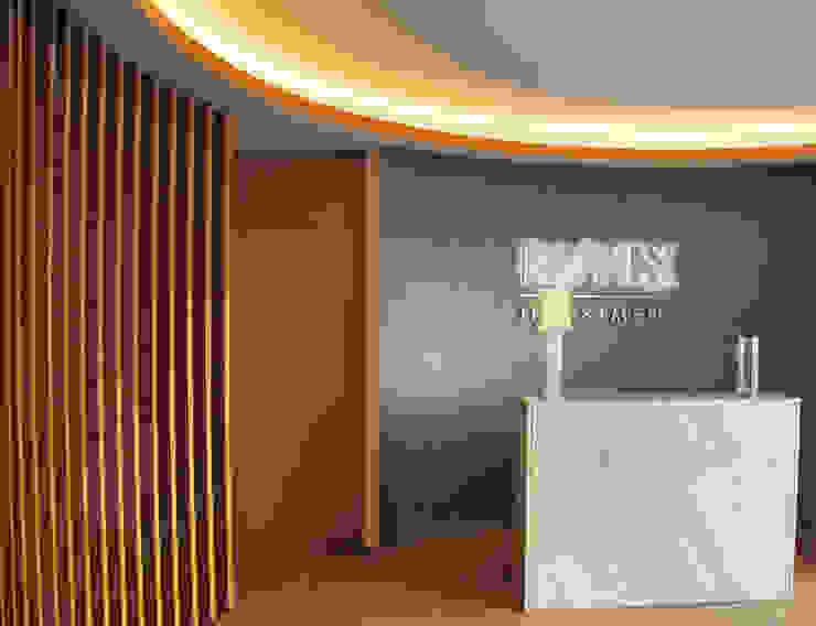 Lobby Salas de estar modernas por JOÃO SANTIAGO - SERVIÇOS DE ARQUITECTURA Moderno