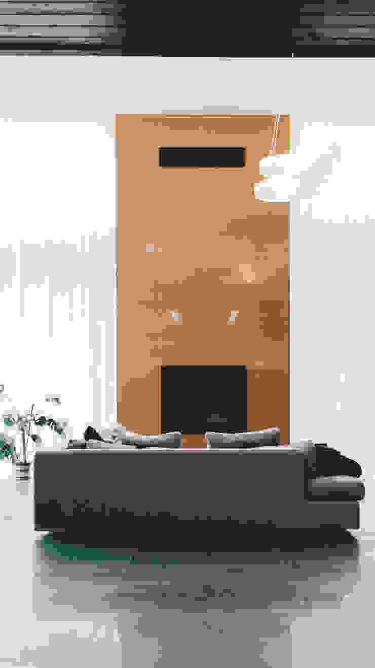 K–house Гостиная в стиле минимализм от yurima architects Минимализм Керамика