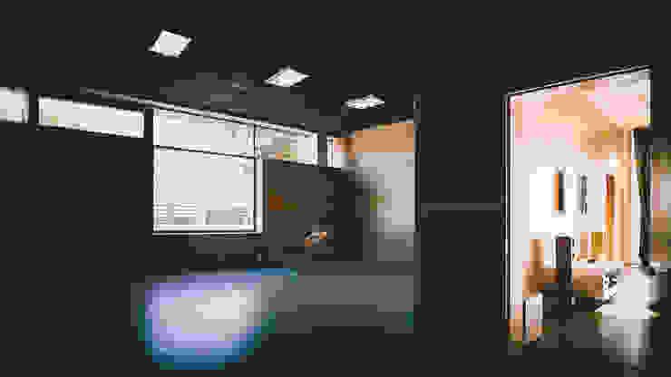 K–house Тренажерный зал в стиле минимализм от yurima architects Минимализм Фанера