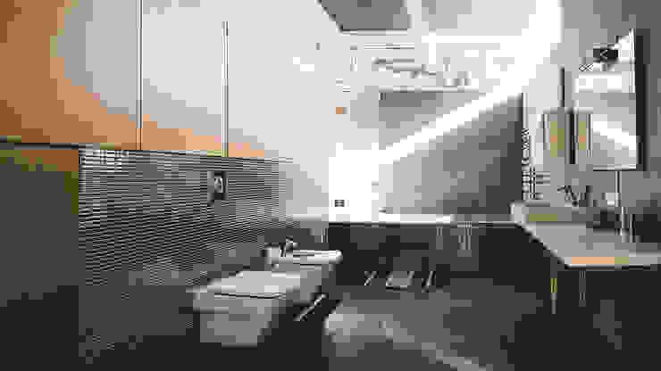 K–house Ванная комната в стиле минимализм от yurima architects Минимализм