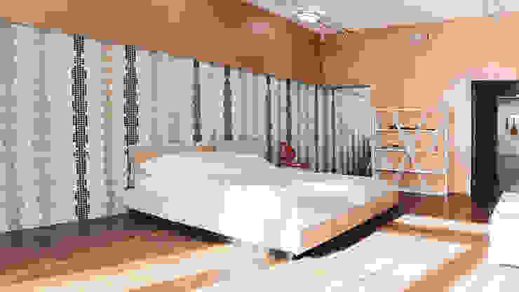 K–house Спальня в стиле минимализм от yurima architects Минимализм Фанера