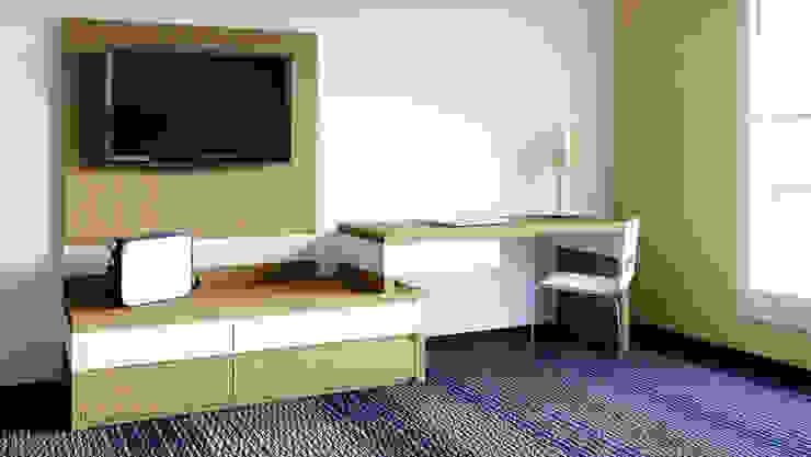 Panel TV / Credenza / Escritorio de diesco Moderno Compuestos de madera y plástico