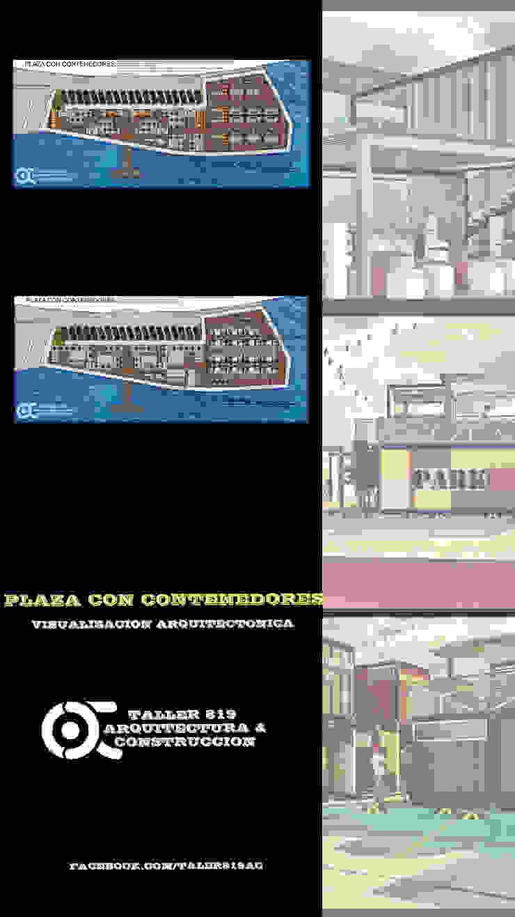 PLAZA CON CONTENEDORES de TALLER819 A & C