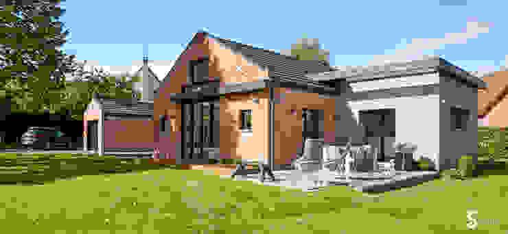 création d'une nouvelle terrasse Maisons minimalistes par Emilie Bigorne, architecte d'intérieur CFAI Minimaliste