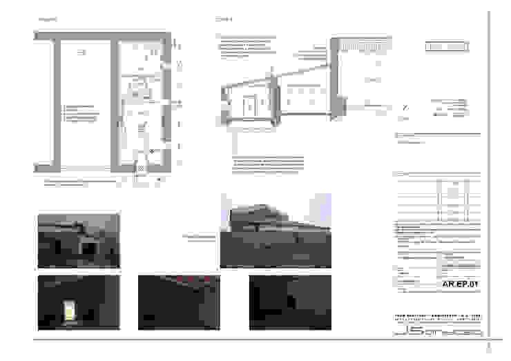 Desenhos Casas rústicas por JOÃO SANTIAGO - SERVIÇOS DE ARQUITECTURA Rústico