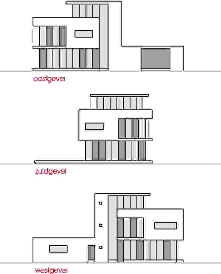 gevelaanzichten: Vrijstaand woonhuis voor Elisabeth & Hugo van Archivice Architektenburo