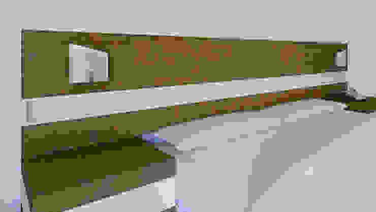 Cabecera c/laterales para buró de diesco Moderno Compuestos de madera y plástico