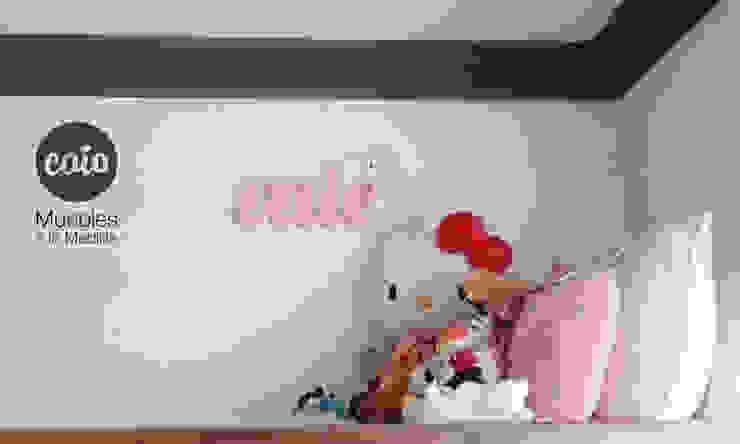 """Letrero """"Vale"""" con unicornio de Caio Espacios Infantiles Moderno"""