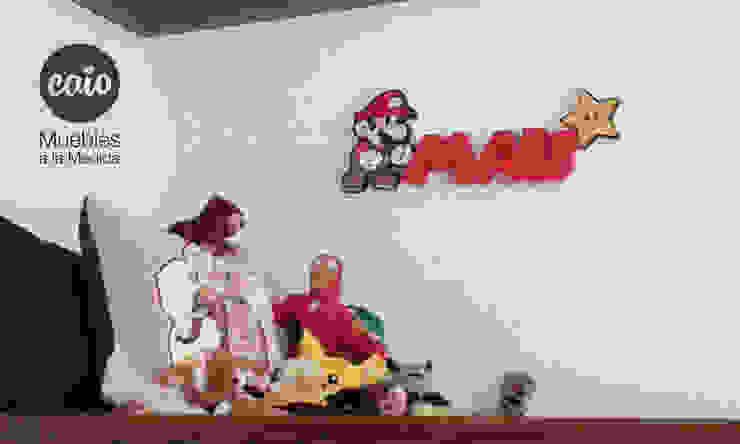 """Letrero """"Mau"""" con personaje de Caio Espacios Infantiles Moderno"""