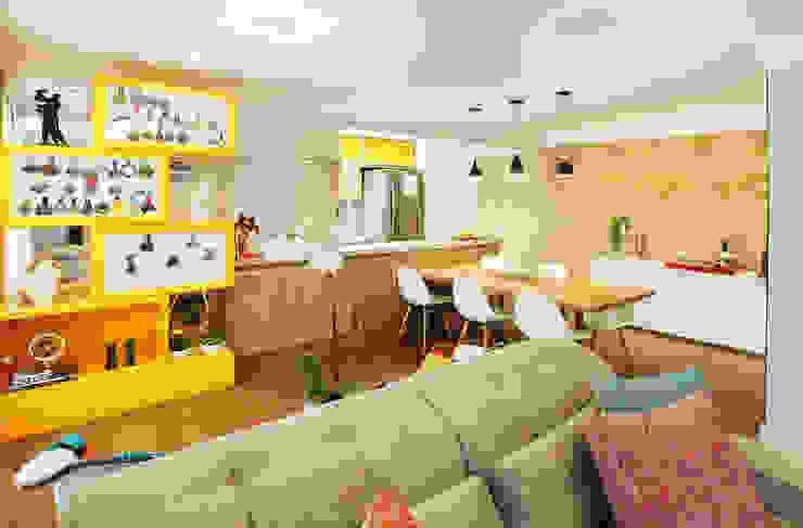 Sala Integrada: Salas de jantar  por Serra Vaz Arquitetura e Design de Interiores
