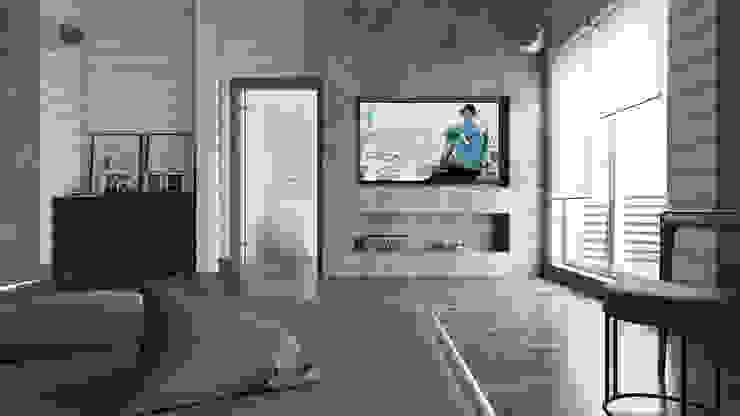Minimalistyczna sypialnia od homify Minimalistyczny Kamień