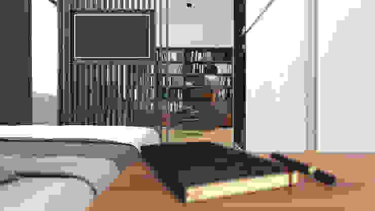 Спальня в стиле минимализм от homify Минимализм Дерево Эффект древесины