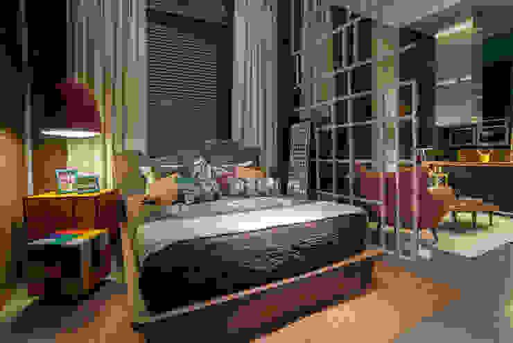 Спальни в . Автор – Pulse Arquitetura,