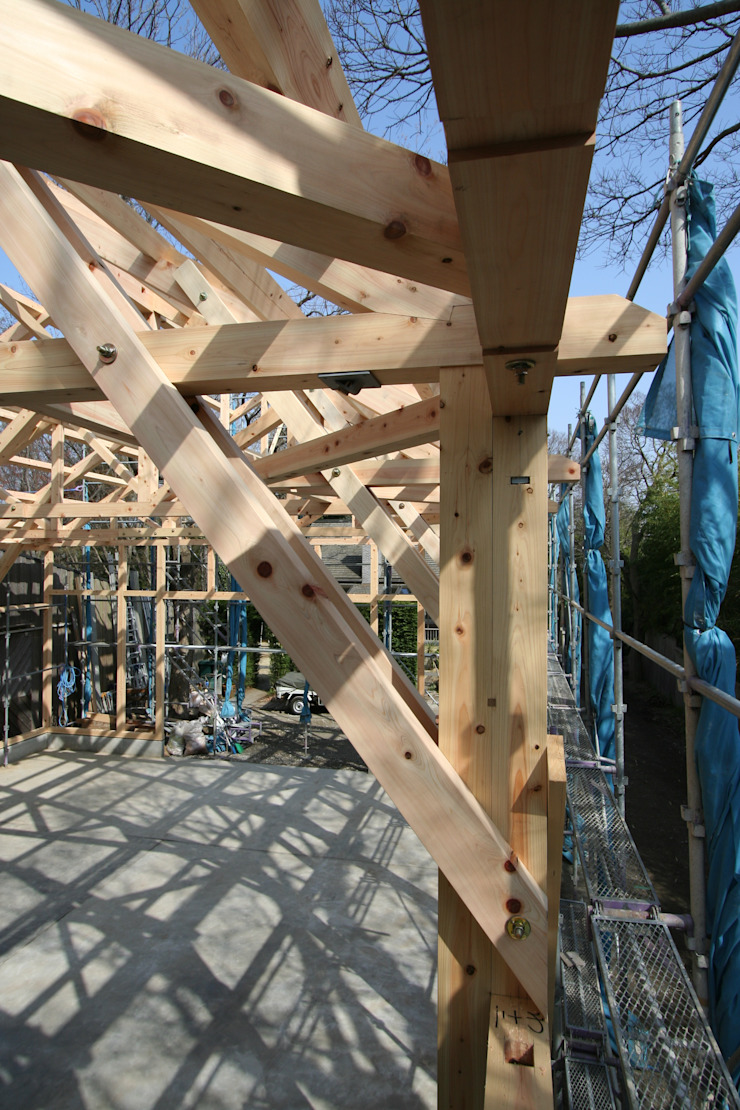 KONARAHOUSE工場 クラシカルな 家 の 木造トラス研究所・株式会社 合掌 クラシック 木 木目調