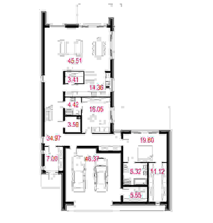 Projekty domów - House 19 od Majchrzak Pracownia Projektowa