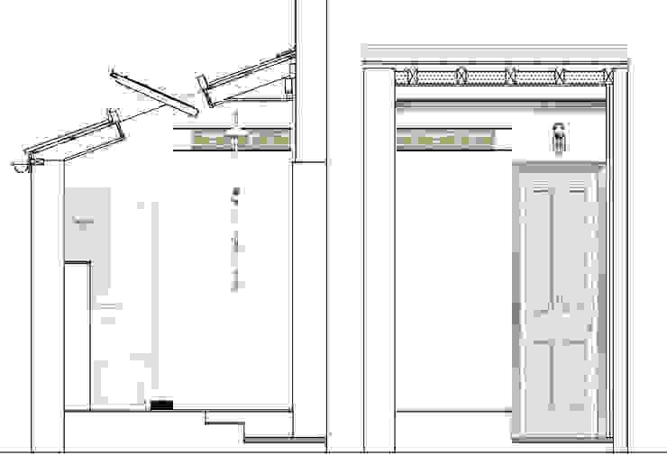 Converting Out building into Shower Room Phòng tắm phong cách kinh điển bởi Paul D'Amico Remodels Kinh điển