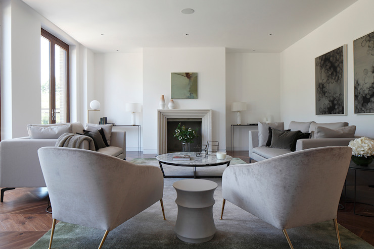 Macauley Road Townhouses, Clapham Modern living room by Squire and Partners Modern