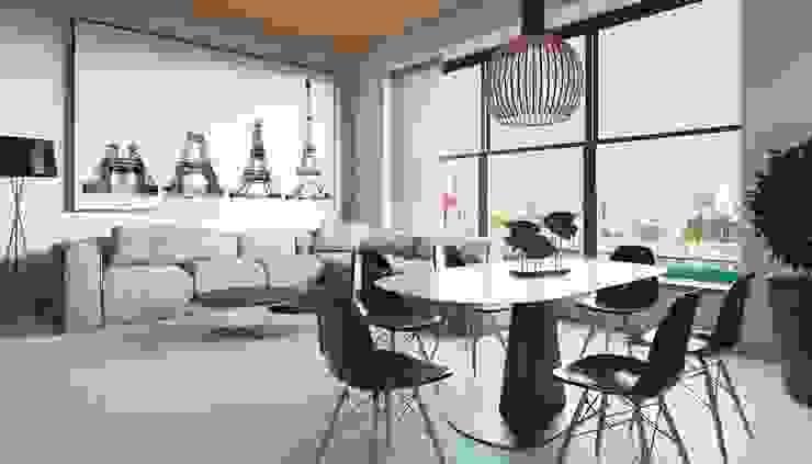 Апартаменты в стиле Лофт Гостиная в стиле лофт от Архитектурное бюро DR House Лофт