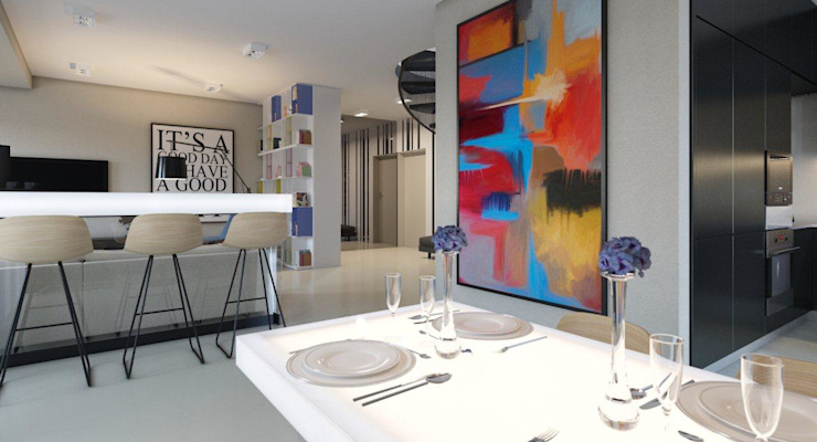 Пентхаус для денди Кухня в стиле лофт от Архитектурное бюро DR House Лофт